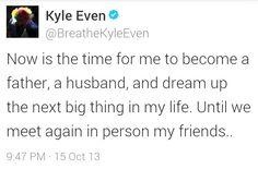 Part : Kyle Even says goodbye to Breathe Carolina Breathe Carolina, The Next Big Thing, We Meet Again, My Friend, My Life, Sayings, Lyrics, Word Of Wisdom, Quotations