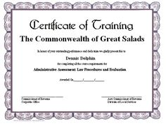 certificate of salvation template - occupational therapy graduation certificates pinterest