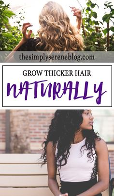 Grow Thicker Hair Naturally PIN