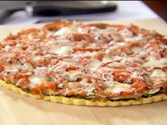 Cornmeal-Crusted Roasted Ratatouille Tart from CookingChannelTV.com