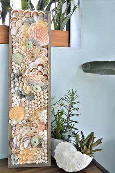 Seashell Painting, Seashell Art, Seashell Crafts, Seashell Projects, Driftwood Crafts, Shell Decorations, Sea Crafts, Coastal Wall Art, Sea Glass Art