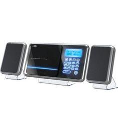 H&B Mini chaîne Hi-fi / Station d'accueil mp3/iPod HF430I - 50w Noir - Station d'accueil - Ventes Privées