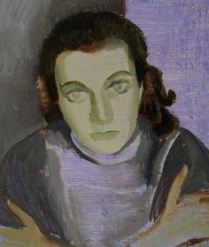 Paul Citroen - Portrait of actress Lies Franken (1930-1996), 1956 - Museum de Fundatie, Zwolle (Dutch 1896-1983)