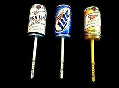 3- Lindy Miller Fishing Beer Can Floats- Bobbers For Bass Walleye Trout Salmon