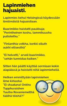 Vitsit: Lapinmiehen hajuaisti - Kohokohta.com Everything, Health Fitness, Language, Jokes, Comics, Nice, Funny Stuff, Random, Humor
