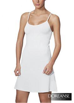 DA11128 - Samtweiches Unterkleid - Anschmiegsame Passform zaubert eine tolle Silhouette #Unterkleid #Underdress #Fullslip #Slipdress #Jupon