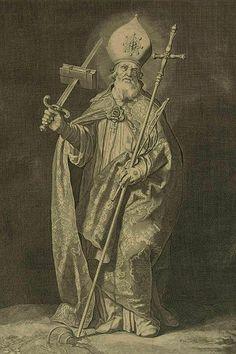 St. Boniface, engraved by Cornelis Bloemaert.