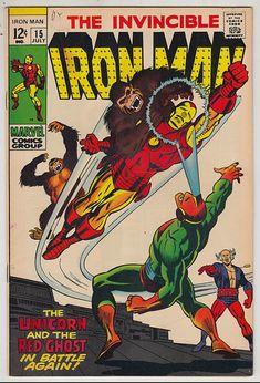 Marvel silver age Iron Man on Mercari Rare Comic Books, Vintage Comic Books, Vintage Comics, Comic Book Covers, Comic Book Characters, Marvel Characters, Comic Books Art, Book Art, Buy Comics