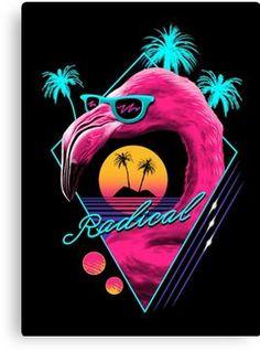 Neon infused synthwave design of a flamingo. New Retro Wave, Retro Waves, Handy Wallpaper, Vaporwave Art, Neon Aesthetic, Flamingo Party, Retro Futurism, Retro Art, Pop Art