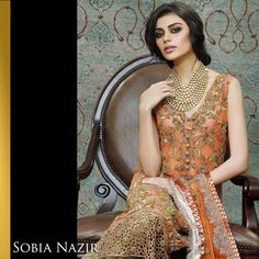 Sobia Nazir Bridal Wear 2015 -RGFashionWorld *this color Pakistani Models, Pakistani Outfits, Ethnic Fashion, Asian Fashion, Classy Outfits, Chic Outfits, Indian Party Wear, Gala Dresses, Prom Dress