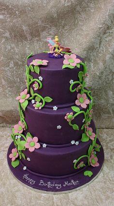 Purple Tinkerbell Cake