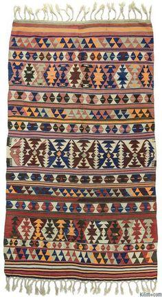 K0009710 Antique Balikesir Kilim Rug | Kilim Rugs, Overdyed Vintage Rugs, Hand-made Turkish Rugs, Patchwork Carpets by Kilim.com