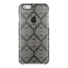 Beautiful,silver,black,damask,vintage,antique, Uncommon Clearly™ Deflector iPhone 6 Case