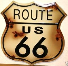 Route 66 Metal Tin Sign ~ Rustic Diecut ~ Approx 17 x 12 Inches by Penny Lane. $14.99. Professional quality metal / tin sign. Makes a Great Gift. Approx 12 x 15 Inches. Enameled paint is attractive and very durable. 100% Satisfaction. Route 66 Metal Tin Sign ~ Rustic Diecut ~ Approx 17 x 12 Inches