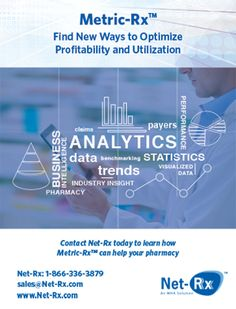 Net-Rx - Metric-Rx - Find new ways to optimize profitability and utilization (As seen in the 2016 Pharmacy Platinum Pages Buyer's Guide: rxplatinumpages.com).