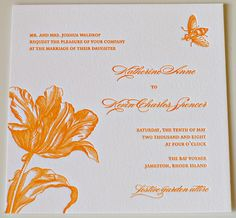 "My ""spring on paper!"" letterpress wedding invites"