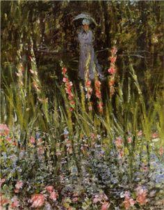 The Garden Gate at Vetheuil - Claude Monet
