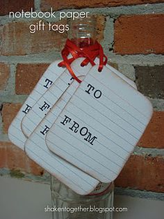 idea for price tags: use index cards