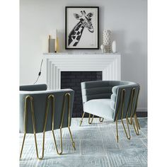 Love the legs and frame of this Maxime Club Chair