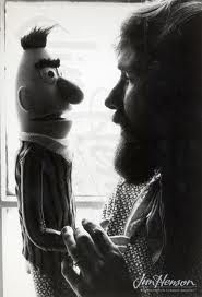 Jim Henson with Bert - this picture is special , Bert is always the least favored.