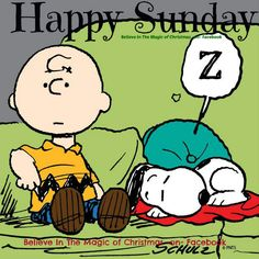 Happy Sunday Charlie Brown & Snoopy