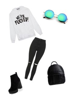 """Untitled #136"" by evelynazer on Polyvore featuring Topshop, New Look, Alexander Wang and United Couture"
