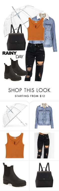 """Chic-Rain"" by brookemuir ❤ liked on Polyvore featuring ShedRain, Topshop, ASOS, Jeffrey Campbell and Kate Spade"