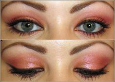 MAC Hush CCB (base)  MAC Pink Bronze pigment (lid, lower liner)  MAC Fuschia pigment (crease)  MAC Melton Mauve e/s (crease, lower liner)  MAC Vanilla e/s (browbone)  MAC Blacktrack Fluidline (liner)