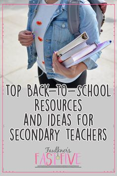 Planning for back-to-school just got easier with this carefully curated list of ideas, tips, suggestions, and resources for your secondary classroom – in any subject!