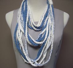 Cotton Wrap in Blue and White.