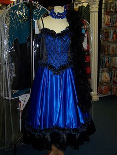 wild west costumes | Wild Wild West Saloon Madam Blue | Mad World Costume Hire