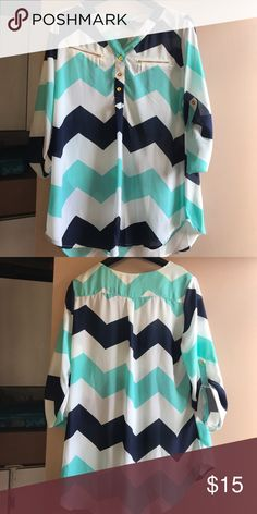 Rue21 Top Chevron print. Only used once Rue 21 Tops Blouses