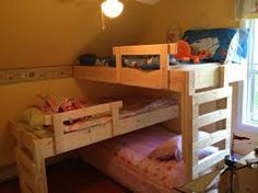 Why Choose a Bunk Bed for Your Youngster? – Bunk Beds for Kids Triple Trundle Bed, Triple Bunk Beds Plans, Triple Bed, Bunk Bed Plans, Bunk Beds With Stairs, Kids Bunk Beds, Loft Spaces, Small Spaces, Bed With Posts