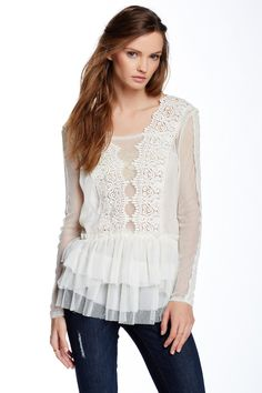 Midnight Memories Lace Blouse by Free People on @HauteLook