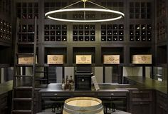 Chelsea townhouse wine cellar