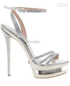Wholesale Lady Shoes - Buy Beautiful Colorful Silver Platform Pump High Heel Sandal Shoes Sexy Lady Sandals Good Dress ShoesNO2, $82.96 | DHgate