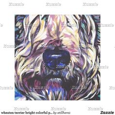 wheaten terrier bright colorful pop dog art Follow the link to see this product on Zazzle! @zazzle #dog #dogs #dogstuff #dogpin #pet #pets #animals #animal #fun #buy #shop #shopping #sale #gift #dogowner #dogmom #dogdad #home #decor #homedecor #interiordesign #design #apartment #interior #artprint #art #funny #lol #cute #canvas