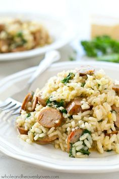Chicken apple sausage risotto recipe
