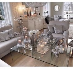 The Best Lounge Living Room Designs Glam Living Room, Beautiful Living Rooms, Living Room Grey, Living Room Interior, Home And Living, Living Room Decor, Living Spaces, Home Fashion, Apartment Living