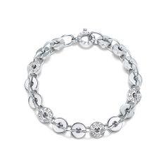 Tiffany 1837™ circle bracelet in sterling silver, medium.