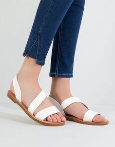 Pull&Bear - mujer - novedades - sandalia tiras blanca - blanco - 11735111-V2016