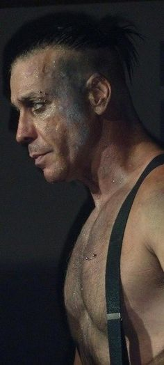 Till Lindemann from German band Rammstein: Saw them live in Gelredome Stadium, Arnhem