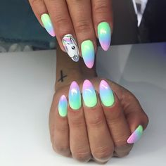 36 Wonderful Ombre Nail Art Design Ideas - Page 29 of 36 - LoveIn Home Solid Color Nails, Nail Colors, Perfect Nails, Gorgeous Nails, Cute Nails, My Nails, Nail Manicure, Nail Polish, Cute Nail Art Designs