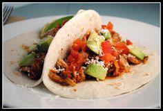 Smokey Pork Tinga Tacos {crock pot}