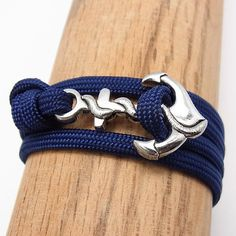 Navy Anchor Bracelet by Jay Tsujimura  I think loving the little mermaid makes me obsessed with nautical stuff!