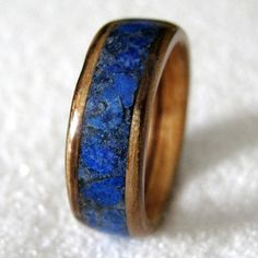 Handcrafted Wood Ring with Wide Inlay | Beautiful Wood Rings