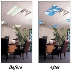 Fluorescent Light Covers For Your Home Or Office. Skyscapes Create The Same  Atmosphere As A Skylight, Enhancing The Ambiance Of The Room.