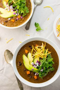 Smokey Sweet Potato and Black Bean Soup | She Knows Food