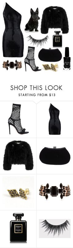"""""""Untitled #2608"""" by anfernee-131 ❤ liked on Polyvore featuring Marco de Vincenzo, Erdem, Judith Leiber, Isabel Marant, Chanel, eylure and Azature"""