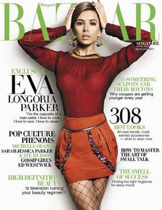 Eva Longoria, IMTA 1998, on the cover of Bazaar!
